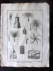 Diderot C1790 Antique Print. Pieces Hydrauliques. Fireworks 01
